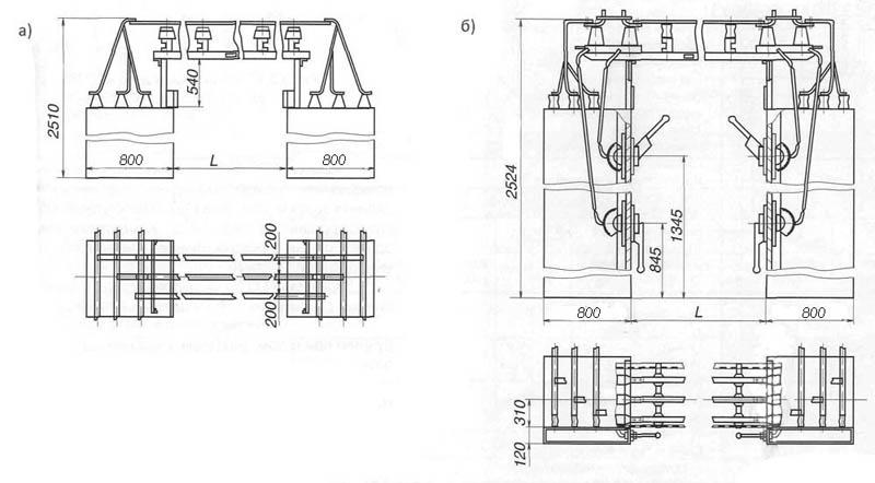 Рис. 3. Шины для КСО-366