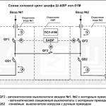 Исполнение 01М – два ввода, два вывода и секционный выключатель (сх.№1)