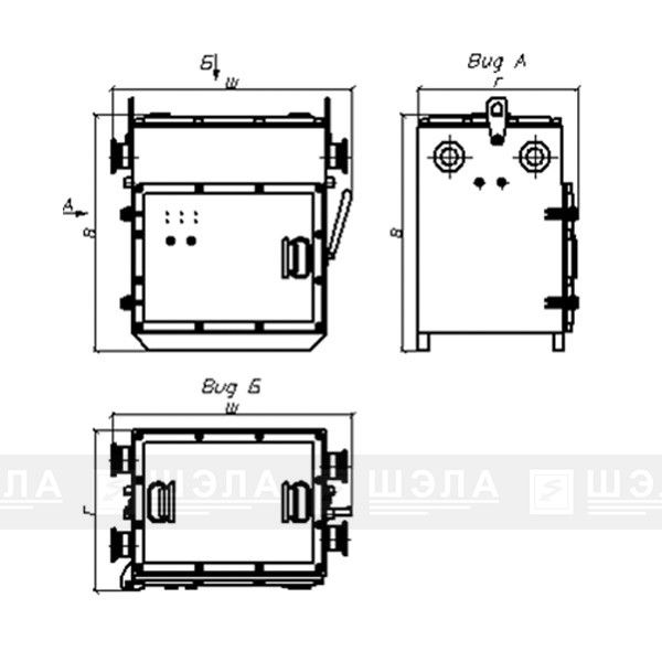 Пускатель рудничный прямого пуска типа ПР-0,3М…ПР-630М-ПП в корпусе повышенной прочности