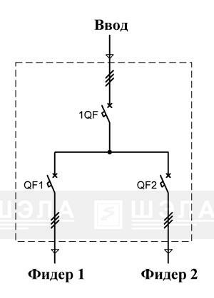 Схема линейного шкафа распределителя