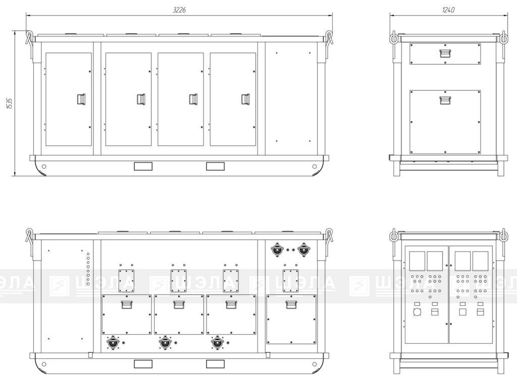 Габаритные размеры КРП-М-6(10)-630