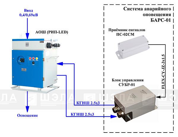 Типовая схема подключения БАРС-01